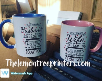 Husband and wife mugs!