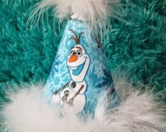 Frozen Birthday party hat - Frozen Olaf Birthday Party hat - Frozen Party