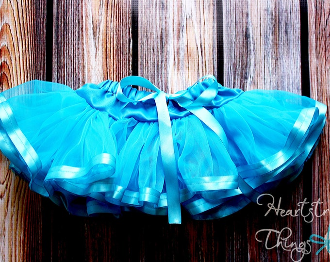 Chiffon Pixie Pettiskirt lined with Satin Ribbon adapted from Petti Skirt for Baby or Child