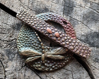 Large Bronze Dragonfly Toggle