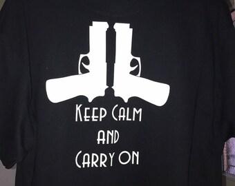 Keep Calm Carry On Custom T-Shirt
