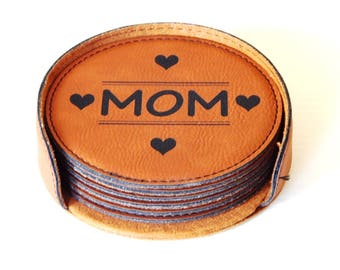 Mom Gifts - Gift for Mommy - Mothers Day Mom Coasters from Daughter or Son,  CAS008