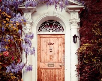 "London Door Photography, London Photography, Spring Decor, Flowers, Purple Wisteria, Garden, Romantic Home Decor, ""Dream Home"""