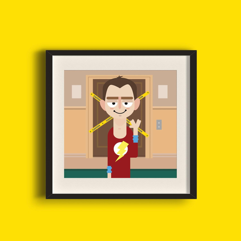 Sheldon Cooper Big bang theory Art Print