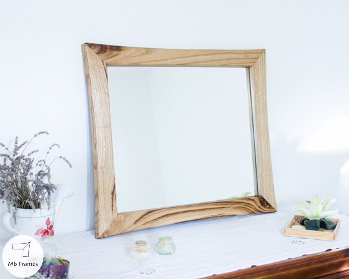 Picture frame modern mirror wood color chestnut wood zoom jeuxipadfo Choice Image