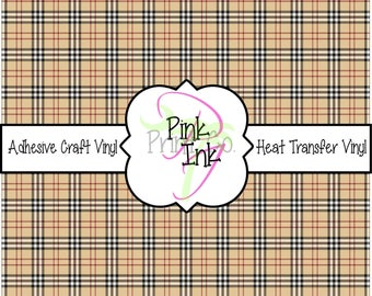 Plaid Adhesive Vinyl and Heat Transfer Vinyl in pattern 883