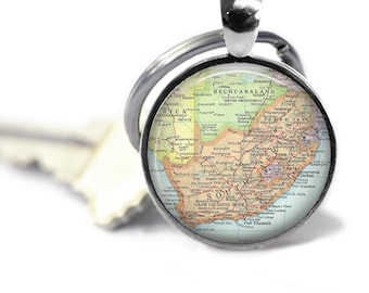 South Africa Map Pendant Map Necklace Map Jewelry Travel Necklace Map Map of Africa