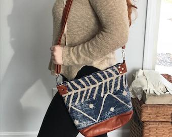 Mud cloth crossbody bag, crossbody bag, mud cloth bag, boho chic bag, tribal crossbody