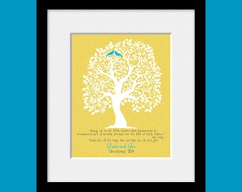 Special Occasion Gift, Customized Family Tree, FAMILY TREE PRINT, Personalized Family Tree Print,  Grandparents Christmas Gift