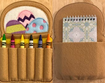 Easter Basket Crayon Holder AND Notebook Holder