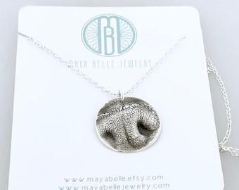 DOG NOSE PRINT necklace, custom dog print, dog or puppy nose print keepsake