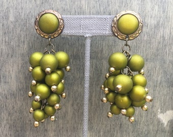 Vintage Green Grapes Earrings
