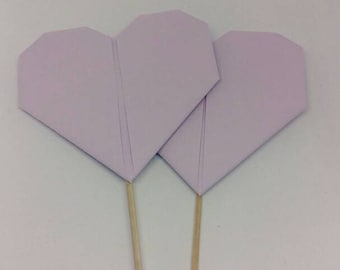 Origami heart set of 10 picks