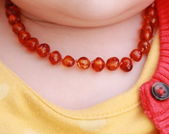Amber Necklace|Babys Amber Necklace|Teething Amber Necklace|Amber Teething Necklace|Babys Necklace|Baby Shower Gift|Baltic Amber Necklace