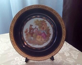 Limoges Decorative Plate, Fragonard Limoges France Plate, Love Story Plate