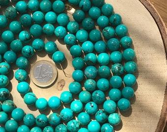 Turquoise howlite - 10mm round beads