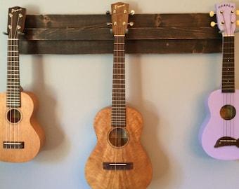 Wooden Ukulele Wall Hanger (also great for a mix of ukulele, banjo, mandolin, etc.)