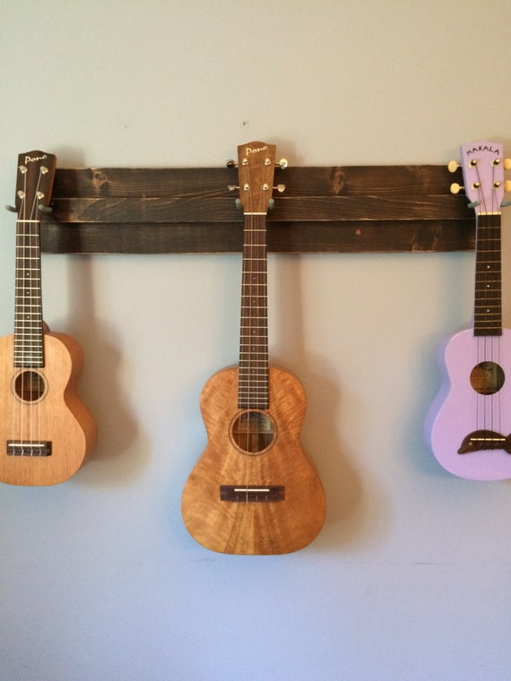 Wooden Ukulele Wall Hanger Also Great For A Mix Of Ukulele - Porte guitare mural