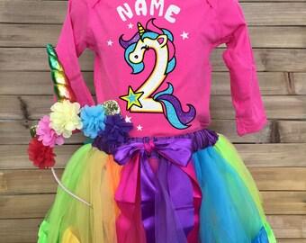 Unicorn Birthday Outfit Unicorn Birthday Dress Unicorn Birthday Tutu Unicorn Birthday Shirt Rainbow Unicorn Unicorn Birthday Party