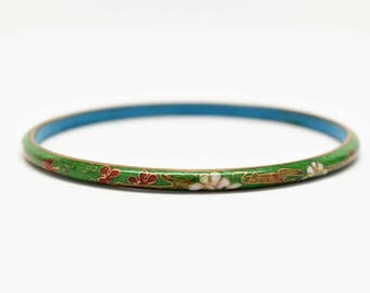 CHINESE BANGLE BRACELET ~ Chinese Cloisonné Tube Bangle Bracelet ~ Chinese Bracelet ~ Tube Bangle Bracelet ~ Bracelets ~ Bangle Bracelets