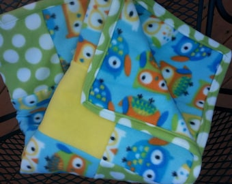 Owl Baby blanket / Owl Toddler Blanket / Baby Quilt / Baby Play Mat / Nursery / Crib Bedding / Baby Gift / Nursery Decor / Unique Baby Gift