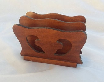 Wooden Napkin Mail Holder Container