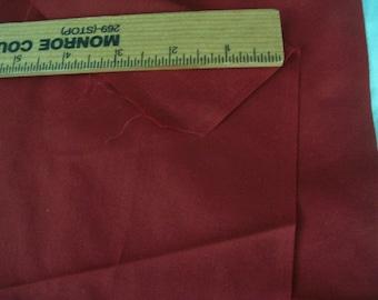 "Dark deep Red Cotton fabric 1 yard x 45"" width"