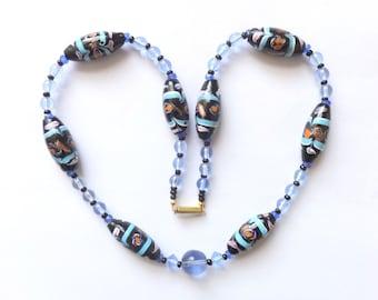 Antique Venetian Aventurine Glass Bead Necklace