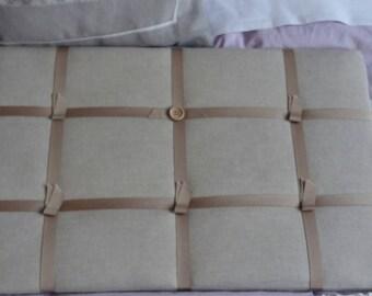 Picture frame is peeling linen blends
