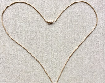 18 inch 14KT Gold Filled Box Chain Necklace, 1 mm