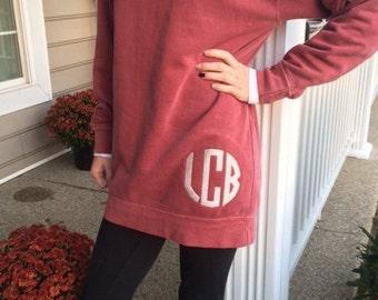 Monogrammed crewneck sweatshirt / Comfort Colors crewneck sweatshirt / Monogrammed sweatshirt