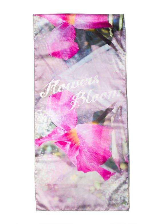 Ladies Spring Scarf, Fashion Scarf, Soft Scarf, Printed Scarf, Satin Scarf, Neck Wrap, Wedding Shawl, Women's Clothing Wearable Art