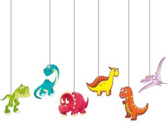 Dinosaur digital ceiling hanging/Dinosaur party supplies/ Dinosaur theme/ Dinosaur decoration/Dinosaur printable/Dinosaur