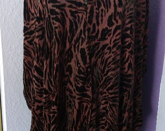 Unique Burnout Silk Velvet Animal stripe Jacket, Kimono, Plus Size, Devore, Bohemian, Hand Dyed
