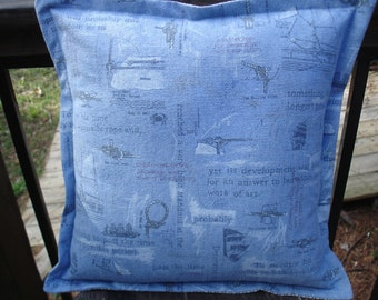 Nautical Pillow--12 by 12 inches---Ready to ship---Free Shipping