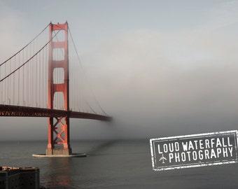 Golden Gate Bridge in Fog, San Francisco, Pacific Ocean, 8x10 IN STOCK