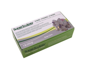 SUPER SCULPEY Firm Gray Sculpting Compound  1 POUND Polymer Clay Oven Bake