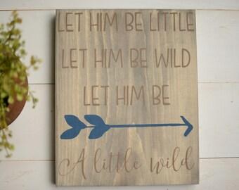 Baby Shower Gift - Nursery Wall Art - Nursery Decor - Boy Nursery Decor - Little Boy Sign - Arrow Sign - Boy Birthday Gift - Boy Baby Shower