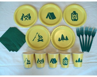 Camping Tableware Set for 5 People