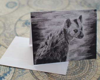 "Charcoal Notecard Set of 10 - 5.5""x4"""