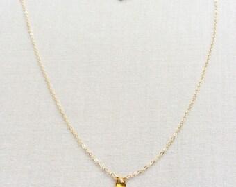 Citrine Necklace, November Birthstone Necklace, Citrine Jewelry, Citrine, November Birthstone, 14k Citrine Necklace, Citrine Choker, BN11