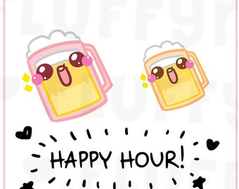 Beer Mug || Planner Stickers, Cute Stickers for Erin Condren (ECLP), Filofax, Kikki K, Etc. || DPS12