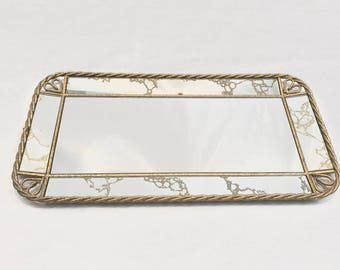 Mid-Century Modern, MCM Vanity Tray or Wall Mirror - Camino Collective