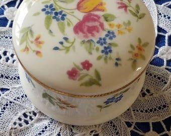 "A Vintage Fine China Trinket Box- Pill Box by ""Ayshford"" England"