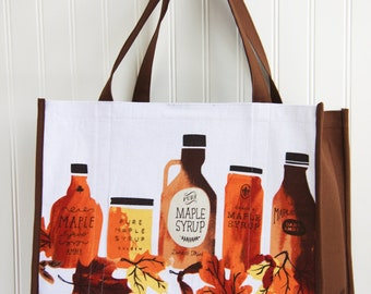 Maple Syrup Shopping Bag - Marketing Bag - Syrup - Farmers Market Bag