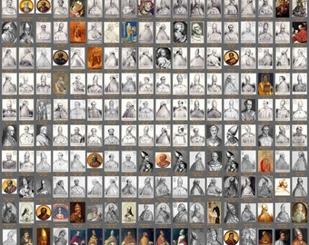 Pope Poster - All 266 Popes from Peter to Francis (24x36)