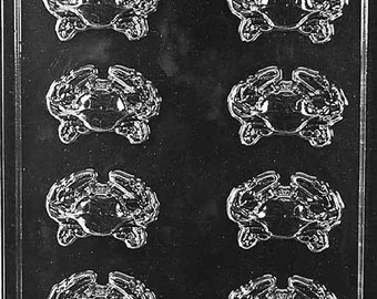 Nautical Candy Mold Chocolate, Crab Pieces with Exclusive FlavorTools Copyrighted Chocolate Molding Instructions N062