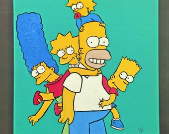 The Simpsons 12x12 Ready to Hang Painting
