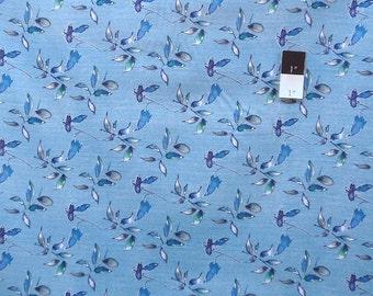 Kathy Davis PWKD050 Wild Flower Wind Song Cornflower Cotton Fabric 1 Yard