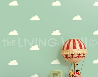 Little Cloud Decals, Clouds Wall Decal, White Cloud Wall Stickers, Clouds Nursery Decor Baby Room